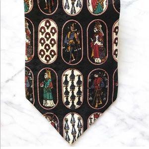 Metropolitan Museum of Art Mens silk neck tie EUC